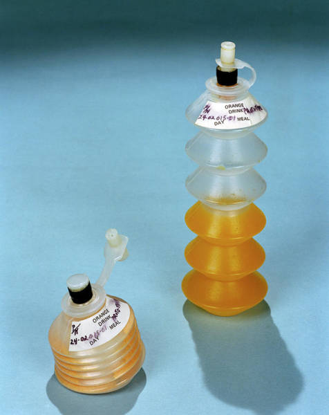 1972 Photograph - Astronaut Drinks Containers by Nasa