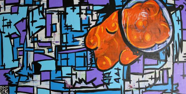 Gummy Bear Painting - Astronaut Gummy Bear by Jera Sky