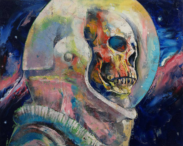 Sparkle Wall Art - Painting - Astronaut by Michael Creese