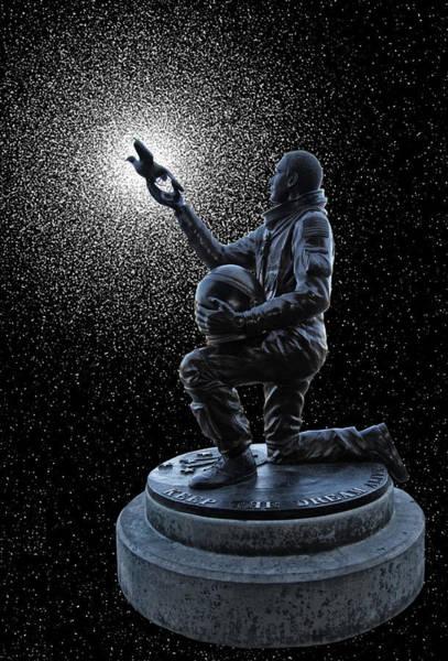 Spokane Digital Art - Astronaut Michael P. Anderson Tribute by Daniel Hagerman