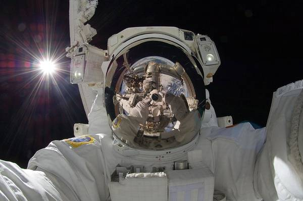 Photograph - Astronaut  Selfie by Celestial Images