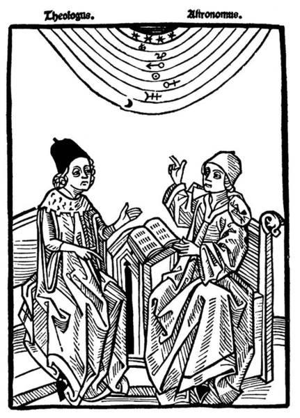 German Renaissance Drawing - Astronomer, 1490 by Granger