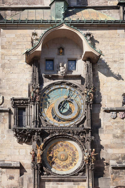 Town Square Photograph - Astronomical Clock At The Old Town by Panoramic Images