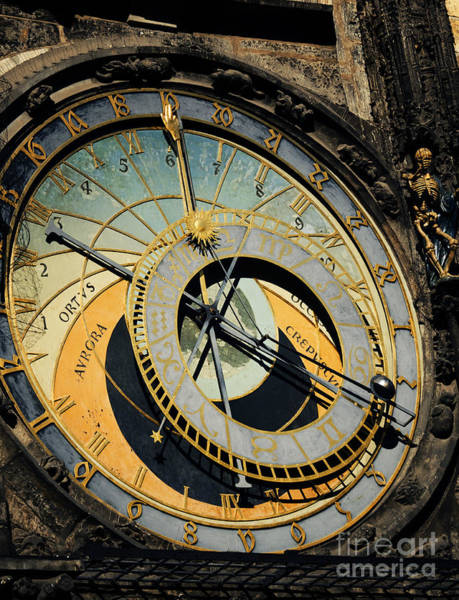 Town Square Wall Art - Pyrography - Astronomical Clock In Prague by Jelena Jovanovic