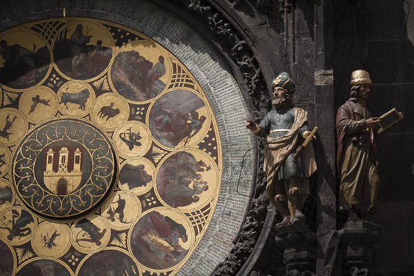 Photograph - Astronomical Clock Prague by Maria Heyens
