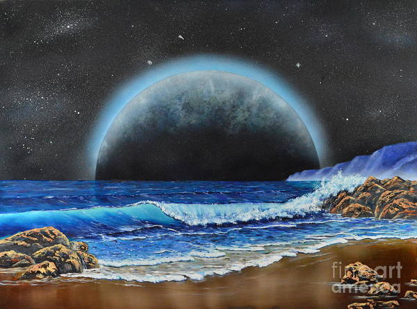 Painting - Astronomical Ocean by Mary Scott