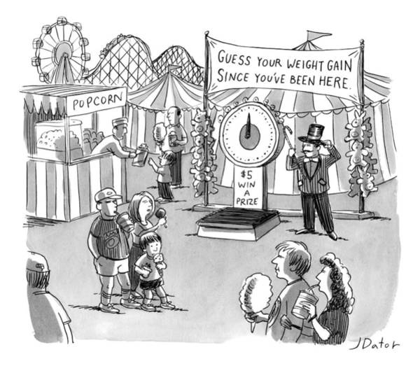 July 5th Drawing - At A Carnival The Banner Reads by Joe Dator