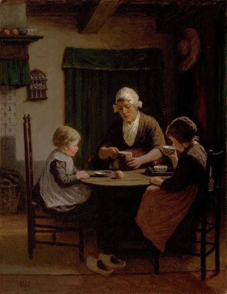 Food Groups Painting - At Grandmothers by David Adolph Constant Artz