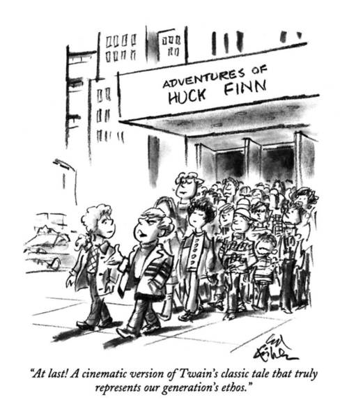 1993 Drawing - At Last! A Cinematic Version Of Twain's Classic by Ed Fisher