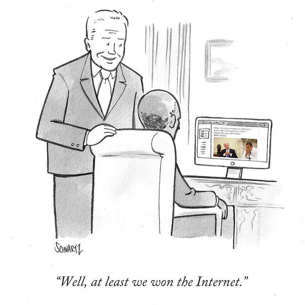 Internet Drawing - At Least We Won The Internet by Benjamin Schwartz