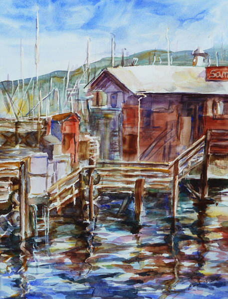 At Monterey Wharf Ca Art Print