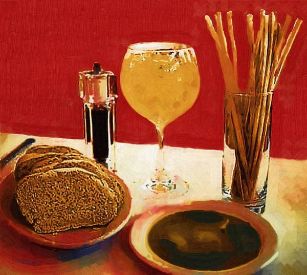 Painting - At Our Italian Restaurant by RC DeWinter