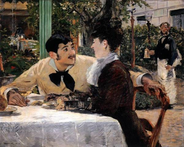 Wall Art - Painting - At Pere Lathuille's by Edouard Manet