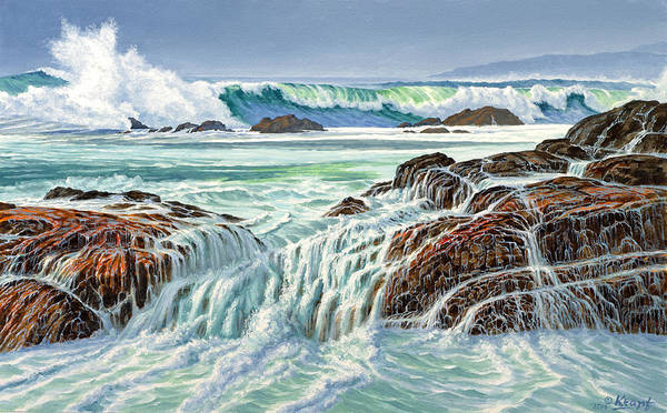 Surf Painting - At Point Lobos by Paul Krapf
