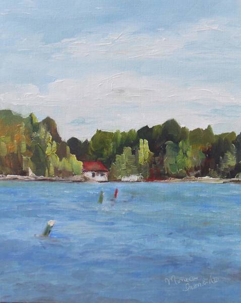 Painting - At Port Severn Locks by Monica Ironside