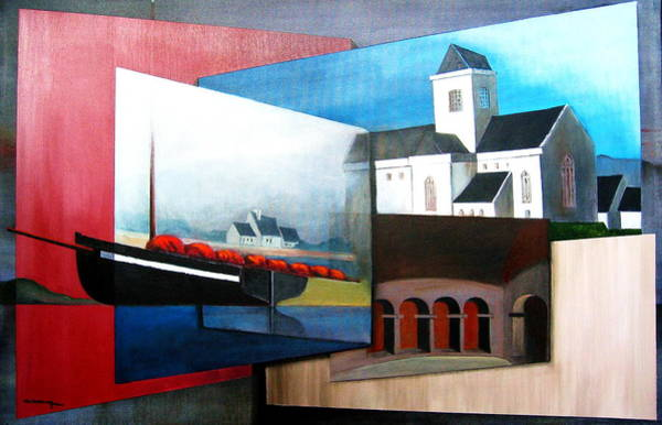 Mixed Media - At Rest In Iona Scotland by Val Byrne