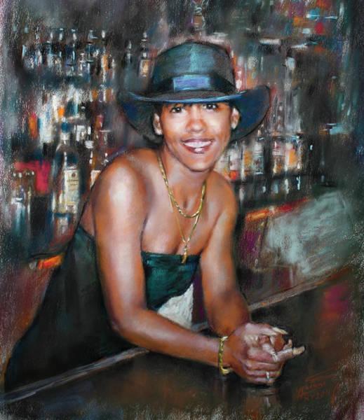 Wall Art - Pastel - At The Bar by Ylli Haruni