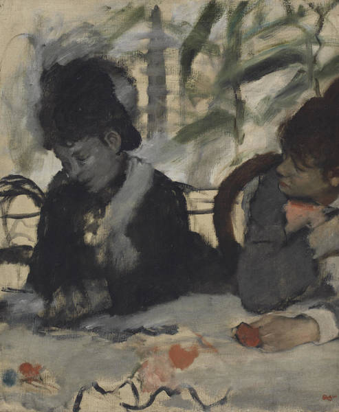 Degas Painting - At The Cafe, C.1875-7 by Edgar Degas