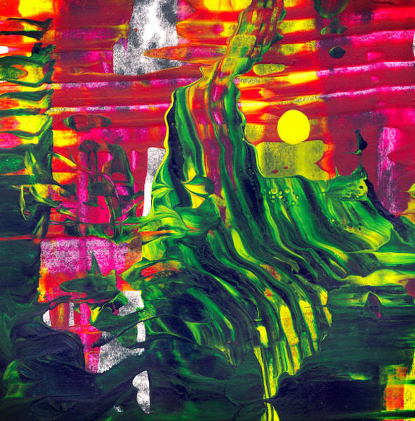 Pouring Digital Art - Night At The Cinema - Modern Abstract Painting by Modern Abstract
