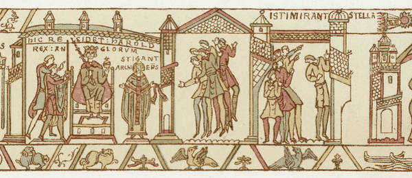 Interpret Drawing - At The Coronation Of Harold by Mary Evans Picture Library