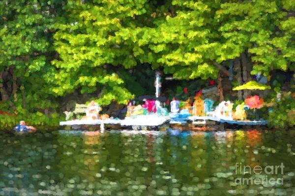Photograph - At The Cottage Dock by Les Palenik