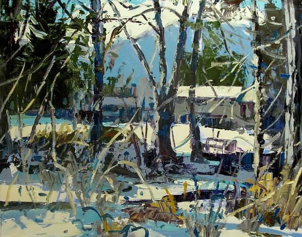 Okanagan Valley Painting - At The Creek by Brian Simons