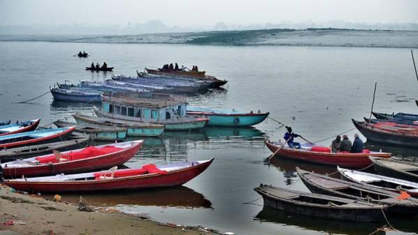 Photograph - At The Docks - Varanasi India by Kim Bemis