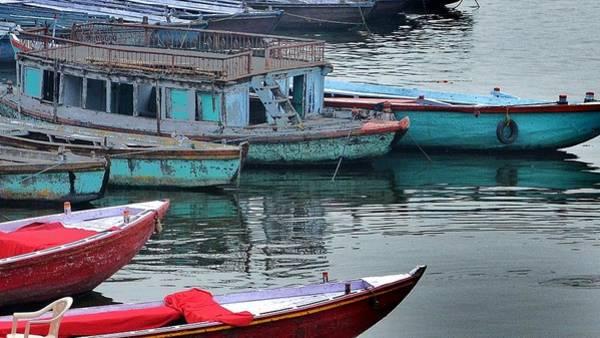Photograph - At The Docks II - Varanasi India by Kim Bemis