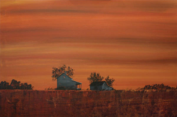 Painting - At The Edge Of The Day by William Renzulli