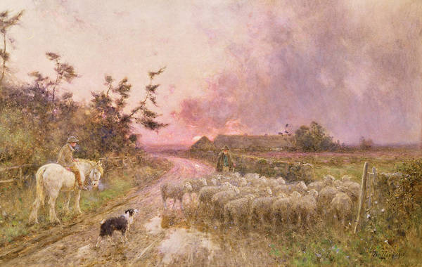Wall Art - Painting - At The End Of The Day by Thomas James Lloyd