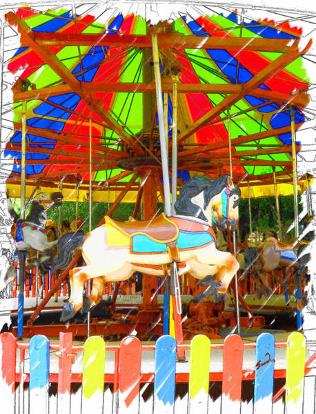 County Fair Painting - At The Fair by Yiries Saad