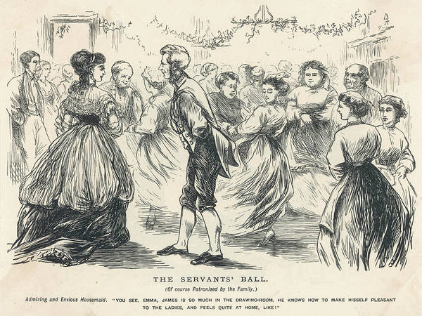 Wall Art - Drawing - At The Servants' Ball, The  Elegant by Mary Evans Picture Library