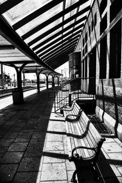 Railroad Station Photograph - At The Station by Karol Livote