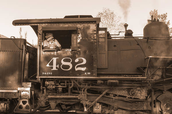 K-36 Photograph - At The Throttle Sepia by Jim Baker