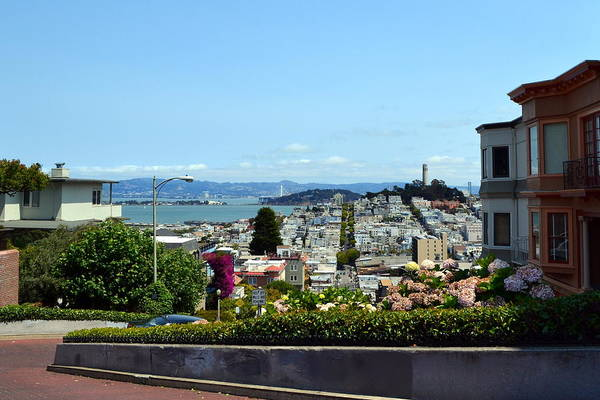 Photograph - At The Top - Lombard Street by Michelle Calkins