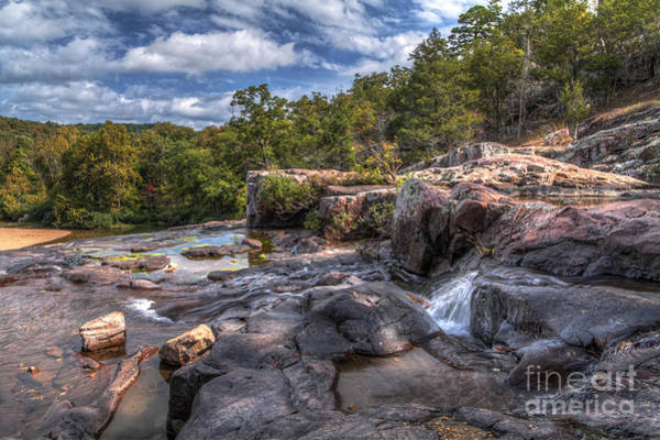 Riverway Photograph - At The Top Of Rocky Falls by Larry Braun