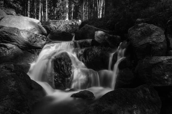 Photograph - at the upper Bodefall, Harz by Andreas Levi