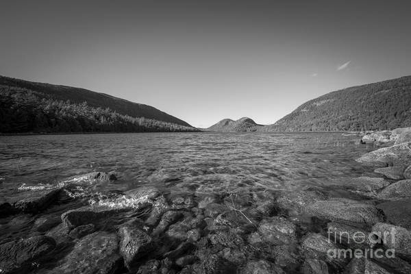 Mike D Photograph - At The Waters Edge Bw Jordan Pond by Michael Ver Sprill