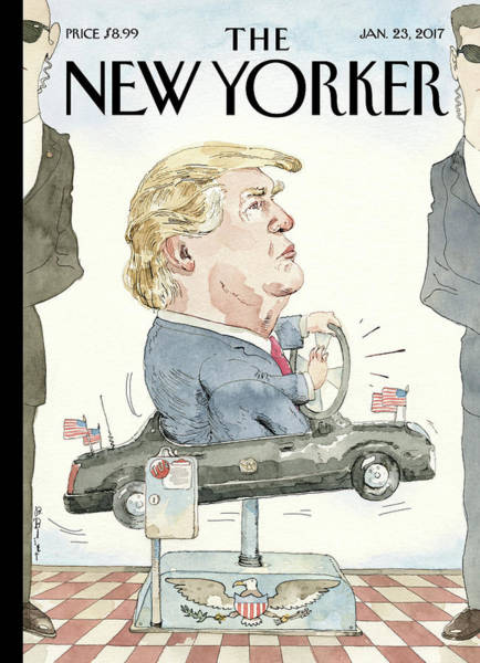 Service Painting - At The Wheel by Barry Blitt