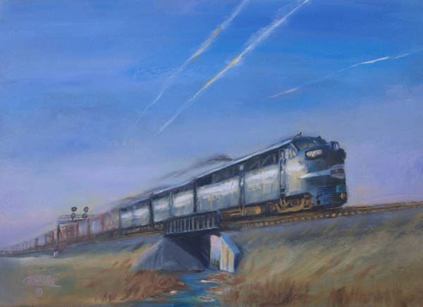 Wall Art - Painting - At Track Speed by Christopher Jenkins