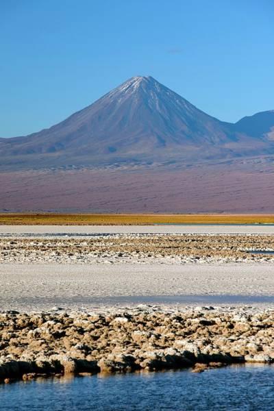 Salar De Atacama Photograph - Atacama Salt Flat And Licancabur Volcano by Babak Tafreshi/science Photo Library