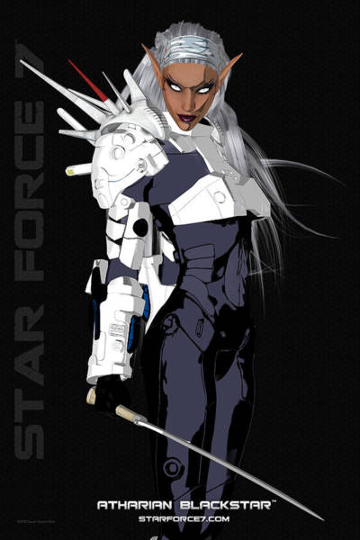 Science Fiction Photograph - Atharian Blackstar Print #1 by Donnie Maynard Christianson