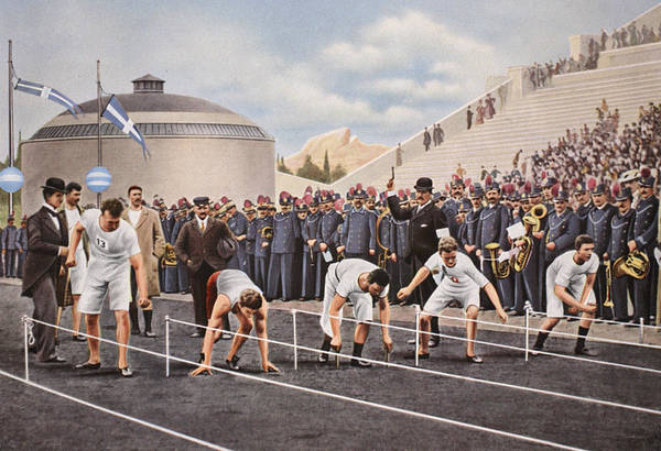 Athletics Painting - Athens 1896 by English School