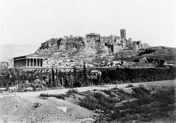 Erechtheion Photograph - Athens Acropolis by Granger