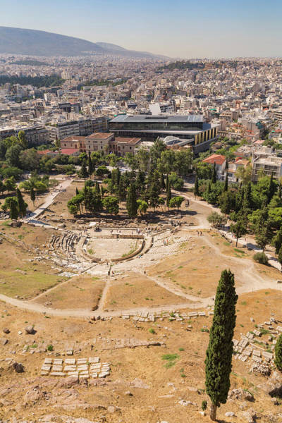Grecian Photograph - Athens, Attica, Greece. Theatre by Panoramic Images