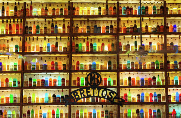 Grecian Photograph - Athens, Attica, Greece. Wall Of Liquor by Panoramic Images