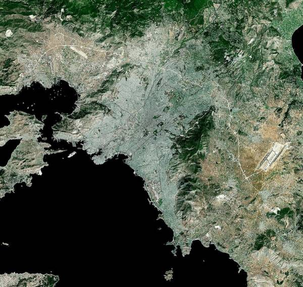 Balkan Peninsula Photograph - Athens by Mda Information Systems/science Photo Library