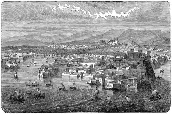 Wall Art - Painting - Athens Viewed From The Piraeus, C1894 by Granger