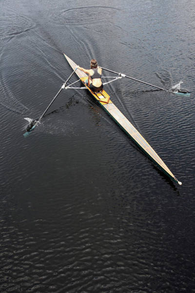 Water Sport Photograph - Athlete Rowing And Sculling by Shanekato
