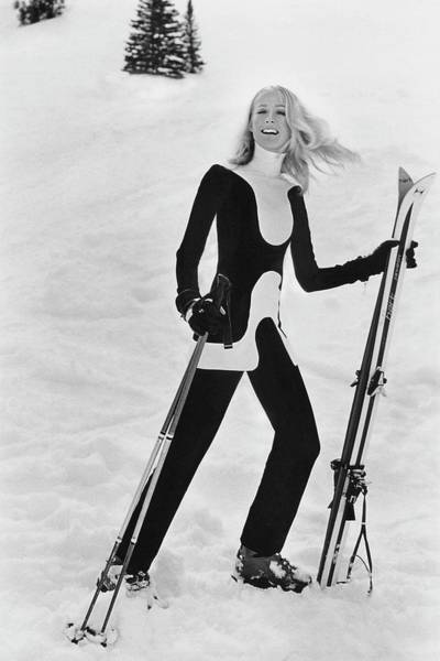 Boots Photograph - Athlete Suzy Chaffee by Toni Frissell